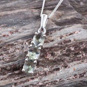Jewelry - NEW Green Tanzanite Sterling Silver 925 Pendant